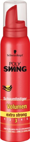 Schwarzkopf Poly Swing Volumen Schaumfestiger, extra strong Halt 3, 3er Pack (3 x 150 ml)