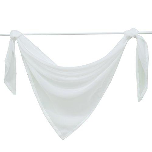 Querbehang Deko Gardinen aus transparentem Voile Triangle Schals L*B 200 * 100cm Weiß