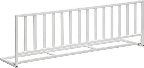 IB-Style - Hochwertiges Bettschutzgitter 'Pino' Bettgitter Holz Weiss lackiert - Länge 120 cm - Höhe 42 cm