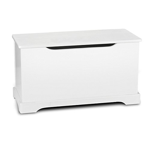 Kindertruhenbank Kinderbank weiße Farbe Truhenbank Behälter für Spielzeug, Sitzbank mit Stauraum für Spielsachen