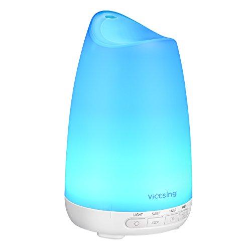 VicTsing Aroma Diffuser 150ml Duftlampe Ultraschall Vernebler, Ultra Leise Diffuser BPA-Free Öle Diffusor mit 8 veränderbaren Farben LED Humidifier Aromatherapie Luftbefeuchter für Kinderzimmer Schlafzimmer Büro Zuhause
