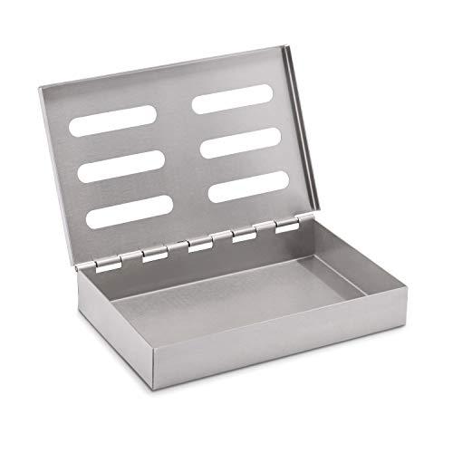 Räucherphorie Räucherbox - Edelstahl Smokerbox für das besondere BBQ-Aroma - Geeignet für Gas-, Elektro und Kohlegrill - Premium Grillzubehör (Standard)