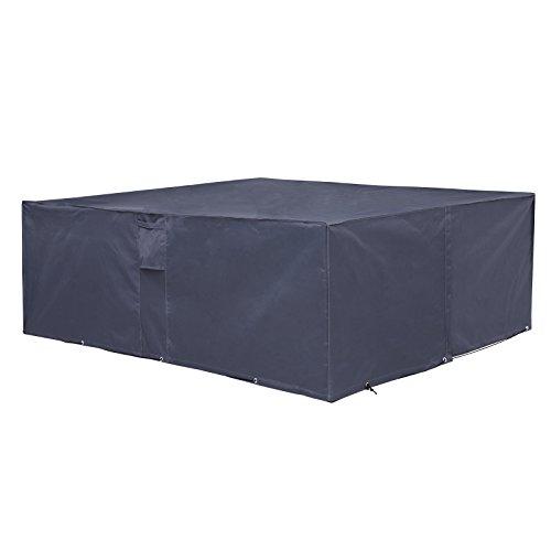 SONGMICSAbdeckhaubefürGartenmöbel,Schutzhülle240x140x90cm,fürGartentischmitStühlen,wasserdicht,winterfest,anti-UV,GFC93G