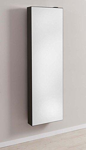 Schuhschrank SCHUH-BERT 500 Mirror drehbarer Spiegelschuhschrank Spiegel schwarz Höhe 150cm