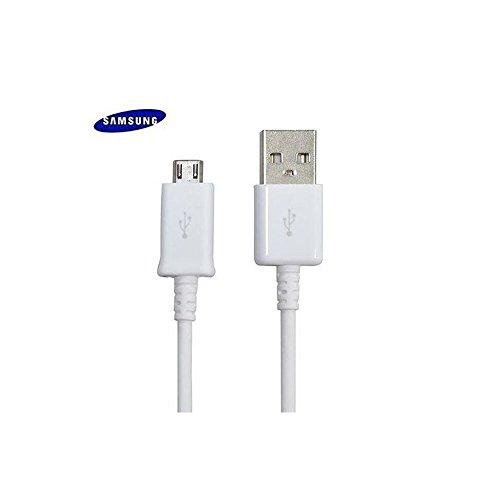 Samsung Original USB Ladekabel Daten Kabel Micro USB Kabel 150 cm ECB-DU4EWE für HTC, LG, Sony, Huawei, und weitere Android Smartphones Galaxy S7 Edge S6 Edge S5 S4 A3 A5 J3 J5 J7 Weiß