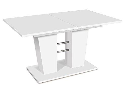 Esszimmertisch Esstisch Auszugstisch Ausziehtisch Tisch Esszimmer 'Bomuli I' (Weiß)
