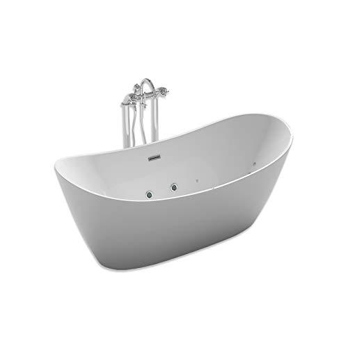 Home Deluxe - freistehende Design Badewanne - Ovalo Plus - inkl. Whirlpoolfunktion