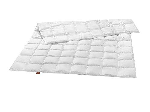 sleepling leichte Sommer Daunendecke weißen Daunen (90%) und Federn (10%) 135 x 200 cm, weiß