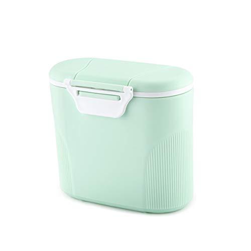 Luchild Milchpulver-Spender Tragbarer Baby-Milchpulver-Behälter Formel Milchpulver-Vorratsbehälter mit Gleichmacher und Löffel - Kapazität 380g (Grün)