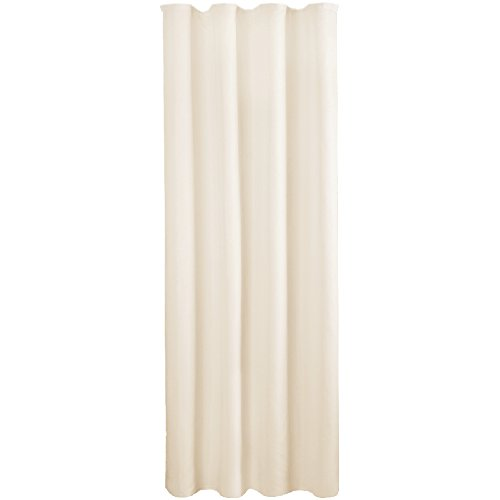 Bestlivings Gardine Vorhang blickdicht modern mit Universalband Kräuselband Mikrosatin matt, in vielen verschiedenen Farben und Größen, Auswahl BEIGE in der Größe: B-140cm x L-245cm