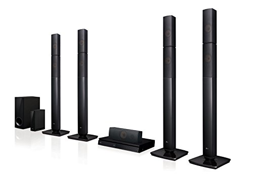 LG LHB655NW Heimkinosystem mit kabellosem Rear-Lautsprecher (3D Bluray Player, DLNA, Smart TV, Bluetooth, 1000 W, 5.1 Multiroom Soundbar)