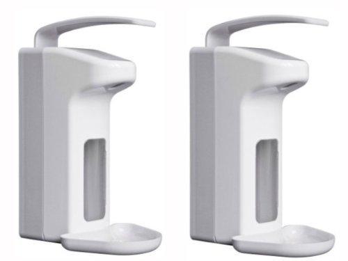 BASIC PLUS 2 Wandspender für 500 ml Flaschen Seifenspender Spender Desinfektionsspender -2 Stück -