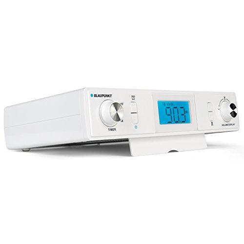 BLAUPUNKT KR 10 WH  Blaupunkt KR 10 Küchenradio-Unterbau mit UKW/FM PLL Empfang | Back-Timer, Koch-Timer, Eier-Uhr| LCD-Display | digitale Uhr und Stereo-Lautsprecher | inklusive Montagematerial Weiß