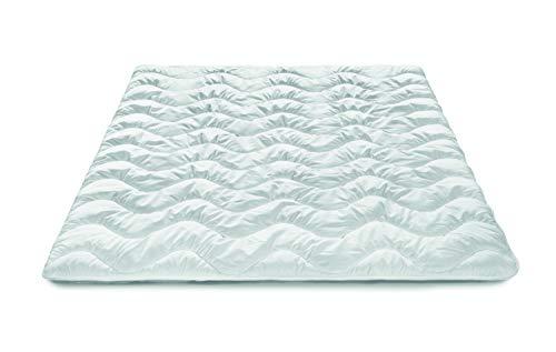 Traumnacht Basis Steppbett leicht, für den Sommer, mit kuschelig weichem Microfaserbezug in 135 x 200 cm, weiß