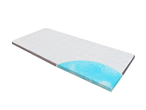 Topper-Matratze-Matratzenauflage, Homedi EBI - A3-140.8 Gel-Schaum-Matratzenauflage Gel-HR-Foam, Bezug-Waschbar, Matratzenauflage, 8 cm hoch, weiß (140x200x8cm)