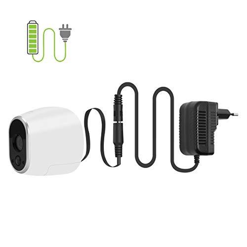 Netzteil Adapter kompatibel mit Netgear Arlo Überwachung Kamera,Smart Home Zubehör (Schwarz)