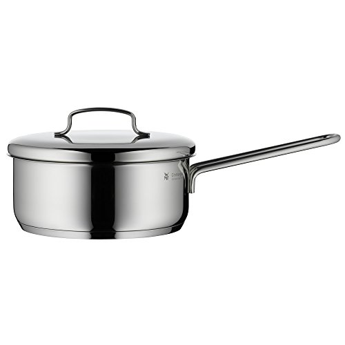 WMF Mini Stielkasserolle, mit Metalldeckel, Ø 16 cm, Cromargan Edelstahl poliert, Schüttrand, induktionsgeeignet, spülmaschinengeeignetm, stapelbar, 1,2 l