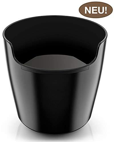 NEU: Homeffect Abschlagbehälter mit verbesserter Handhabung - Innovatives Barista Zubehör - Der Premium Abklopfbehälter für Siebträger-Maschinen