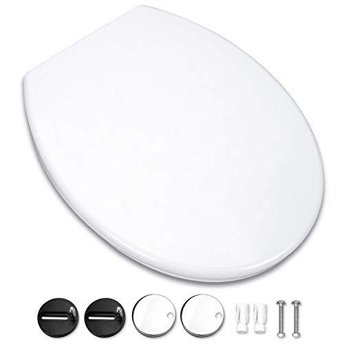 Omasi Toilettendeckel WC Sitz Oval Klodeckel mit Quick-Release-Funktion und Softclose Absenkautomatik. Klo Deckel abnehmbar Toilettensitz, Einfach zu Installieren