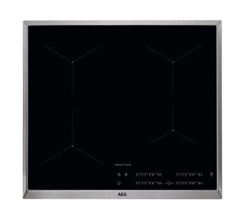 AEG IKB64431XB Autarkes Kochfeld / Herdplatte mit Touchscreen, Topferkennung & Hob²Hood-Funktion / Induktionskochplatte / 4 Kochzonen / Edelstahlrahmen / 60 cm