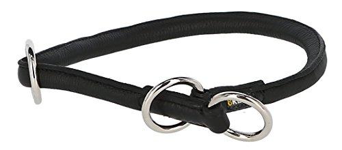 Kerbl 81089 Rundleder-Halsband Roma mit Stopper, 45 cm, 8 mm, schwarz
