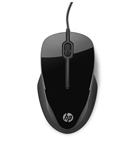 HP X1500 (H4K66AA) Maus mit Kabel (USB, 1.500 dpi, 3 Tasten, Scrollrad) schwarz