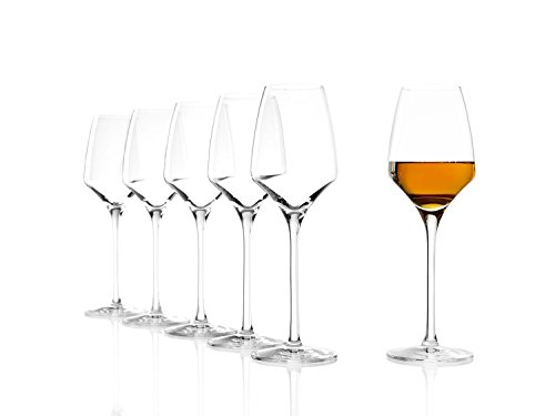 Stölzle Lausitz Süßweingläser Experience 190ml, 6er Set Weinglas, wie mundgeblasen, spülmaschinenfest, hochwertige Qualität