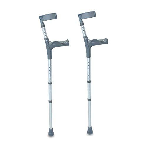 NRS Healthcare Krücken, mit Komfortgriff, verstellbar, lang, 1 Paar