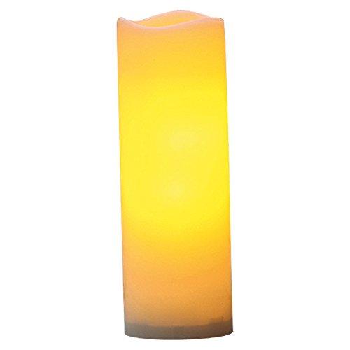 Flower Power LED Outdoor Kerze, Plastik, 10 x 30 cm, crème 9204