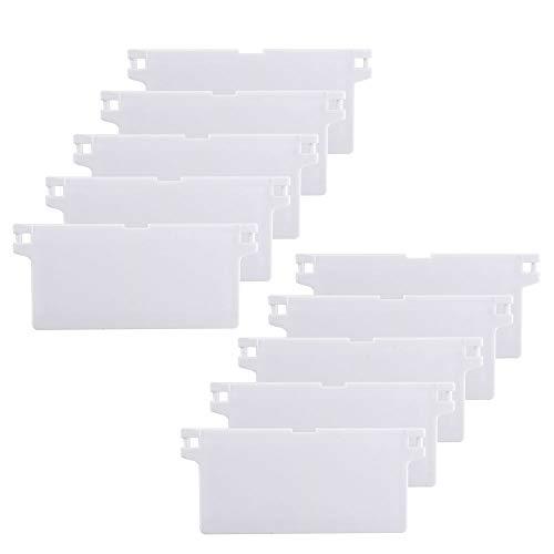 HO2NLE Lamellen Vorhang-Lamellen 10 Pcs Vertikaljalousien Beschwerungsplatten Weiße Vertical Blinds für Vorhang Tür Fenster Wohnzimmer