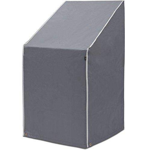 PUROVI Schutzhülle für Stapelstühle | Abdeckung für Gartenstühle und Balkonstühle | Oxford Gewebe | Wetterschutz | Wasserdicht | UV-Schutz