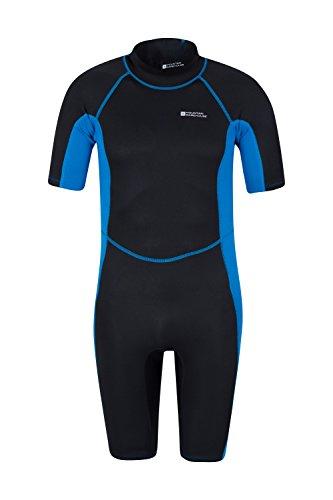 Mountain Warehouse Shorty Neoprenanzug in voller Länge für Herren - bequemer Schwimmanzug, einteiliger Surfanzug aus Neopren, Reißverschluss - Ideal zum Tauchen Kobalt Large / X-Large