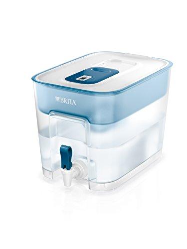 BRITA Wasserfilter Flow inkl. 1 MAXTRA+ Filterkartusche – XXL Tischwasserfilter mit Zapfhahn zur Reduzierung von Kalk, Chlor und geschmacksstörenden Stoffen