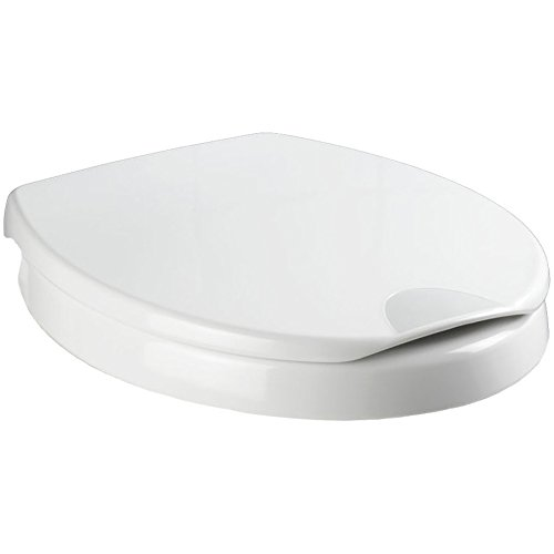 Wenko 21905100 WC-Sitz Secura Comfort - mit 5 cm Sitzerhöhung und Absenkautomatik, Kunststoff - Duroplast, Weiß