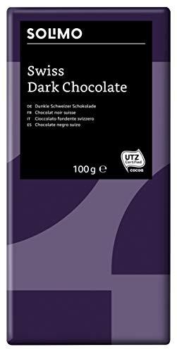Amazon-Marke: Solimo Dunkle Schweizer Schokolade 45% 1,2 kg (12 Tafeln à 100g)