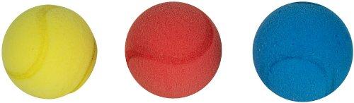 Speelgoed 14/861-Tennis und Tischtennis Tennisbal Soft 3 Stücke 6.5 cm, mehrfarbig