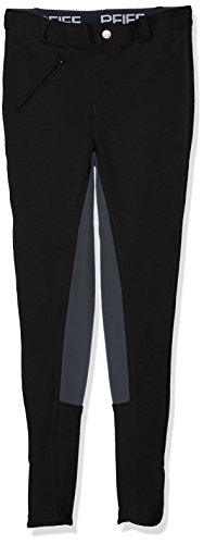PFIFF Damen  Reithose Vollbesatzhose, Schwarz (Black/Gray), 38