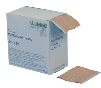 MaiMed - plast classic Wundschnellverband, Pflaster, Wunde (8 cm x 5 m)