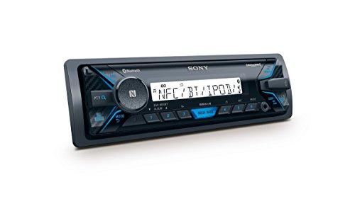 Sony DSX-M55BT Bluetooth Marine-Radio (NFC, Bluetooth, USB, AUX-In, Apple iPod Control, Beleuchtung: blau) schwarz