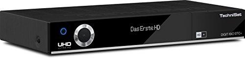 TechniSat DIGIT ISIO STC+ / Digital-Kombi-Receiver mit dreifachem Twin-Tuner für Empfang in HD und UHD - 4K, mit WLAN, Ethernet und Timeshift-Funktion, inkl. HD+ Smartcard, schwarz