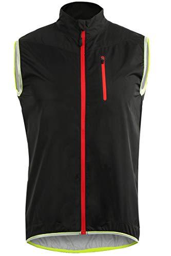 Micosuza Herren Fahrradweste Leichte Wasserabweisend Atmungsaktiv Laufweste Radweste Funktions Ärmellose Jacke