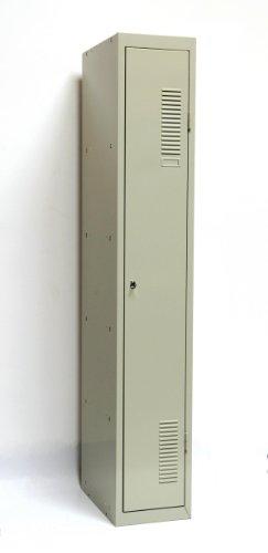 SPIND (Grundspind 1 Abteil) 180x30 cm, 1 Boden, Zylinderschloss, lichtgrau (Schließfachspind, Kleiderspind Garderobenschrank Umkleidespind, Garderobenspind)
