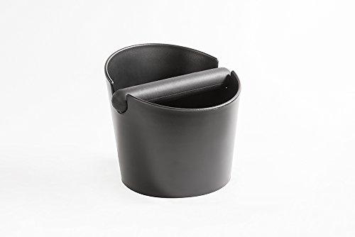 VIENESSO Barista Abschlagbox mit gummierter und abnehmbarer Abklopfstange - hochwertig verarbeiteter Design-Abschlagbehälter für Espresso Kaffeesatz aus dem Siebträger