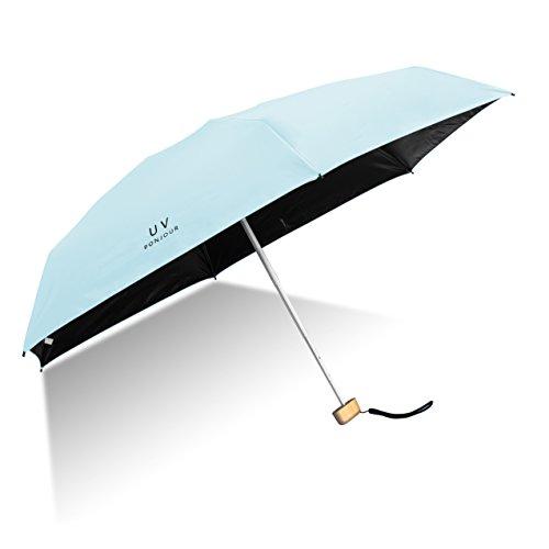 Taschenschirm ShengXuan Ultra Mini Regenschirm Leicht Kompakt Winddicht Regenschirm UV Schutz Visier Regenschirm Robust und Portable Leichtk Kompakt Reiseschirm,Frauen MädchenIhr Intimpartner(Blau)