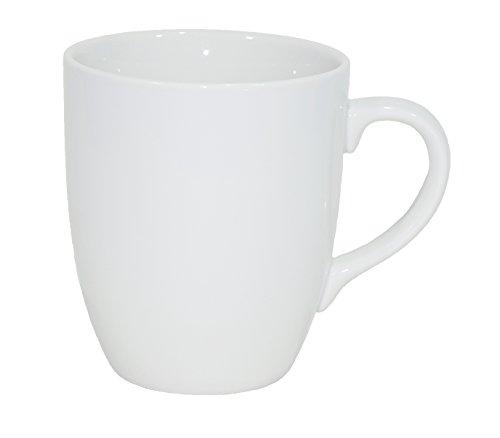Set aus 12 Stück Tassen 300 ml aus echtem Porzellan, auch zum Bemalen bestens geeignet ( Porzellantassen Tafelgeschirr für Gastronomie und Haushalt )