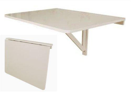 SoBuy Wandklapptisch, Küchentisch, Klapptisch, Esstisch aus Holz, 75x60cm, FWT01-W (Weiß)