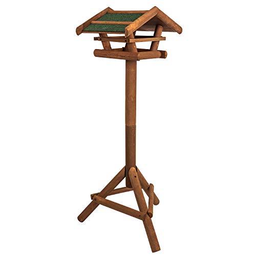 Vogelhaus aus Holz inkl. Ständer ca. 42x23x30cm  Vogelhäuschen für Vogelfutter - Futterhaus/Vogelfutterstation - Schutz gegen Schnee & Regen   Futterstation, Futterstelle, Vogelfutterhaus