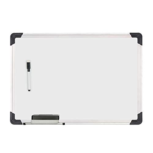 Relaxdays Whiteboard, mit Schwamm und Marker, magnetisch, mit Alurahmen, für Meetings, Workshops, Büro, 35 x 50 cm, weiß