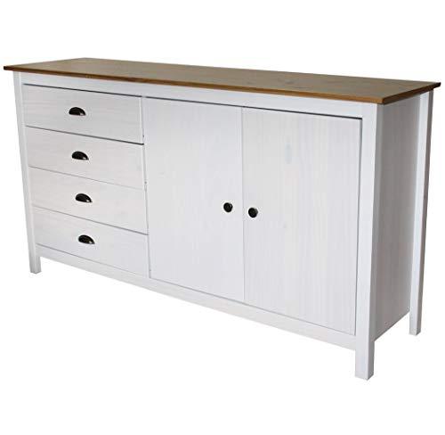 KMH, Sideboard Sven im modernen Design aus Massivholz gefertigt (150 x 40 cm) (#201136)