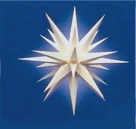 Weihnachtsstern, Adventsstern, original Herrnhut, für Außen, Kunststoff, 68 cm, Stern, Sterne, Weihnachtssterne, Adventssterne, original Herrnhuter Stern, weiß